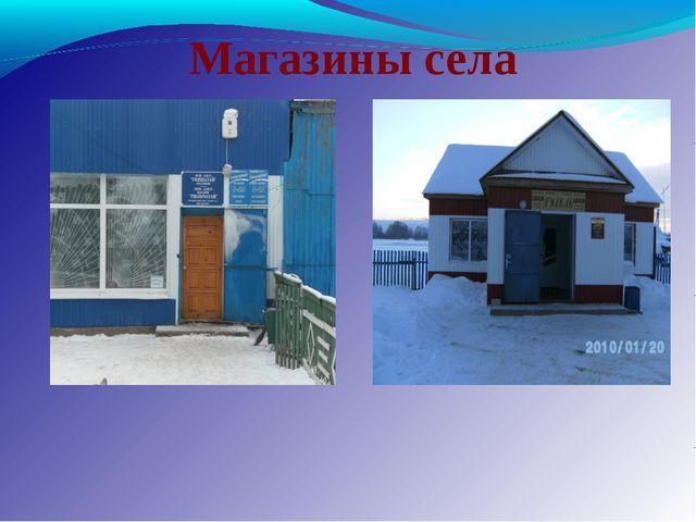 Магазины села