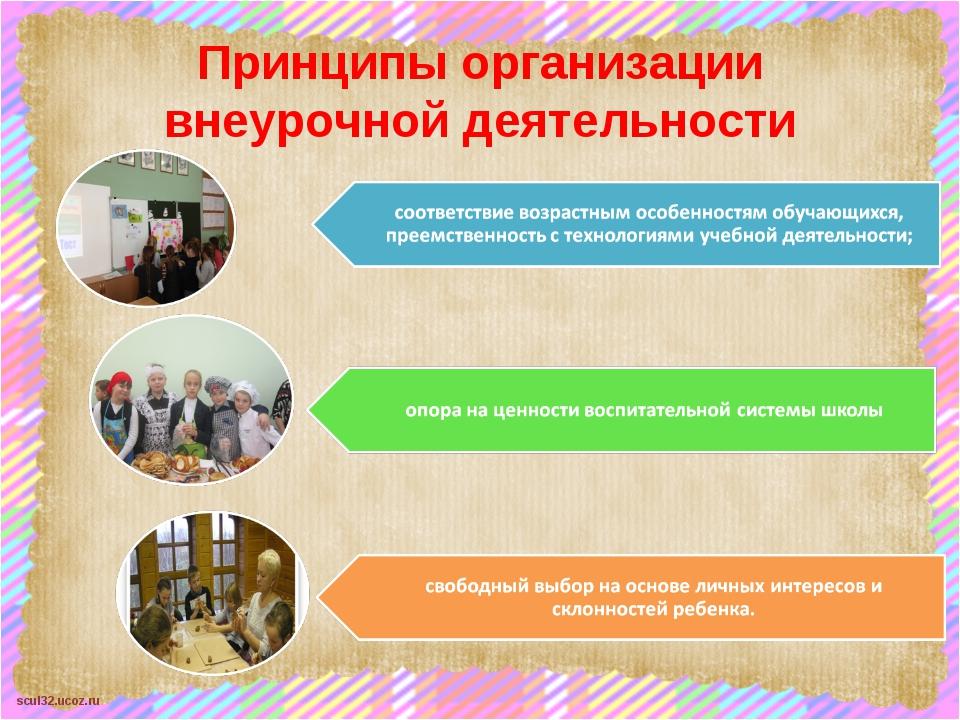 Принципы организации внеурочной деятельности scul32.ucoz.ru