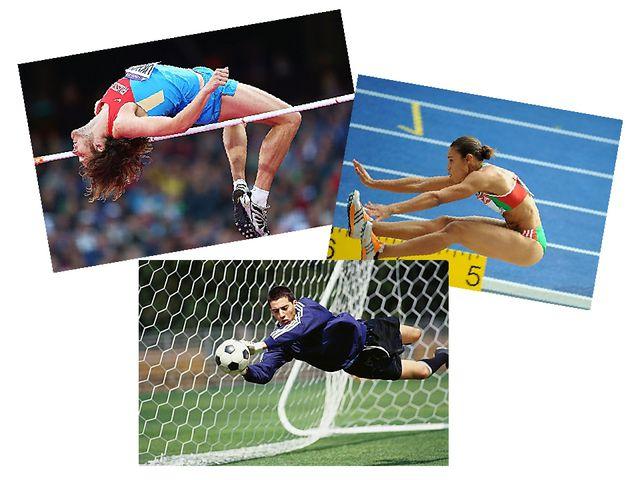 Например, с помощью прыжков в длину и высоту определяют победителя в лёгкой а...