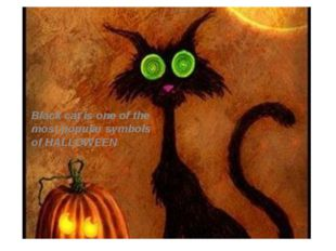 Black cat is one of the most popular symbols of HALLOWEEN