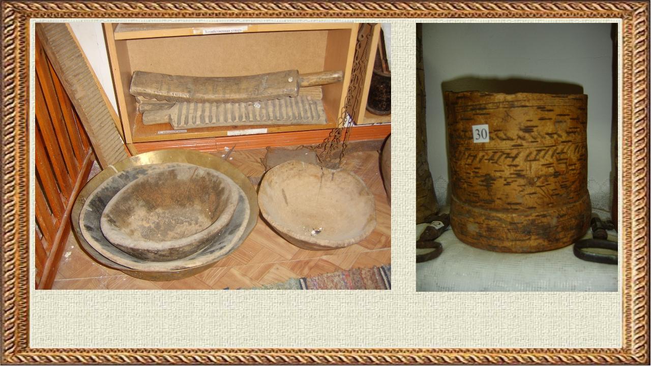 О предметах быта расскажет экспозиция «Мой край родной». Посуда была в основ...