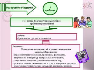 2 проблема Решение: Проведение мероприятий в рамках концепции здоровьесбереже