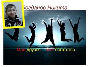 Богданов Никита Мои друзья - моё богатство.