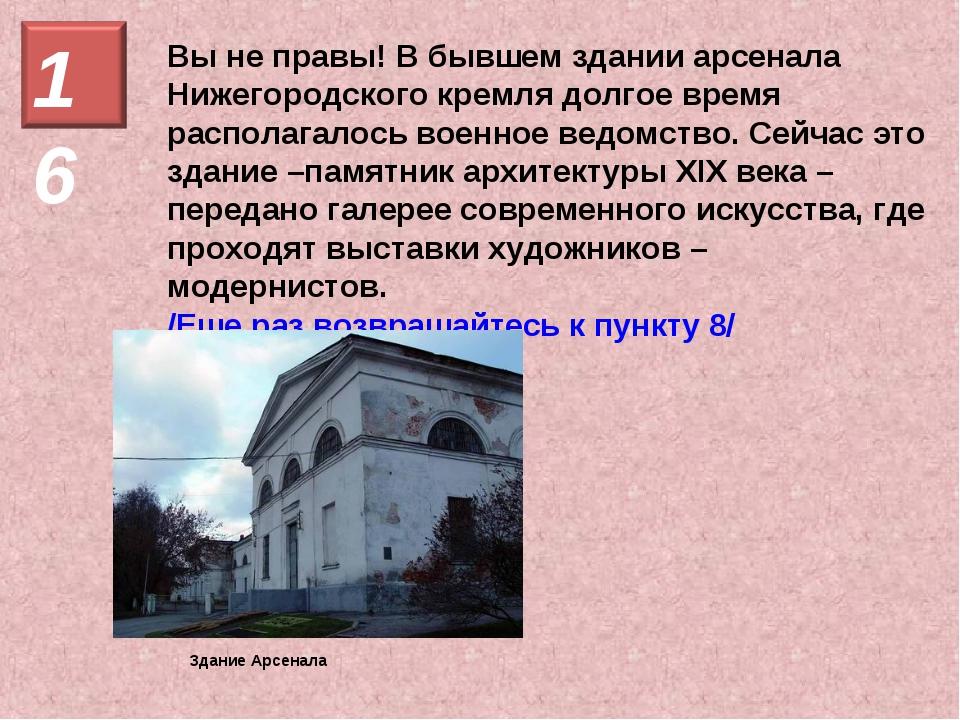 Вы не правы! В бывшем здании арсенала Нижегородского кремля долгое время расп...