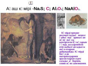 Ағаш көмірі -Na2S; С; Al2O3; NaAlO3. Көмірді ерекше жолмен талдың немесе қайы