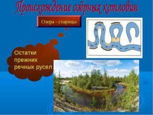 Озера - старицы Остатки прежних речных русел