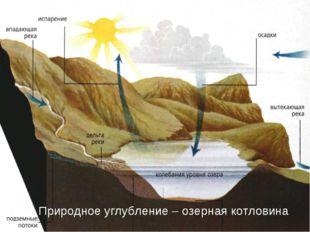 Природное углубление – озерная котловина