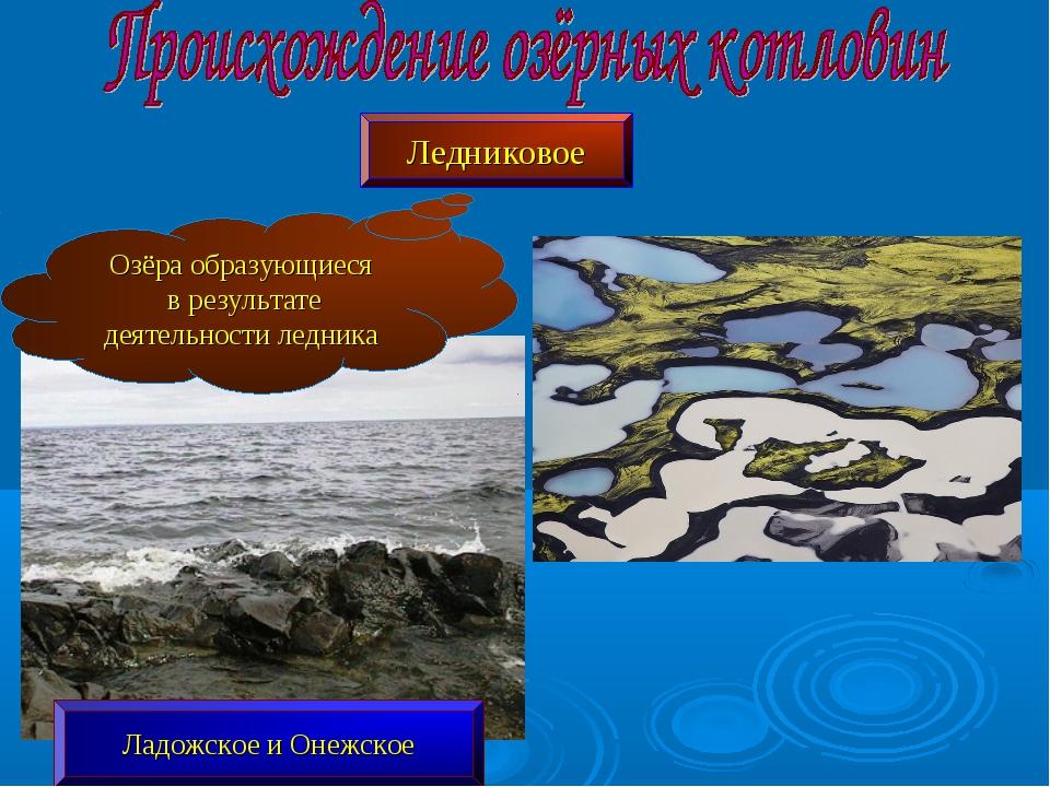 Ледниковое Озёра образующиеся в результате деятельности ледника Ладожское и О...