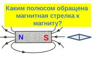 Найти положение полюсов магнита S N Каким полюсом обращена магнитная стрелка