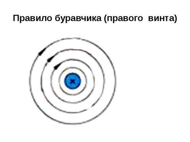 Правило буравчика (правого винта)