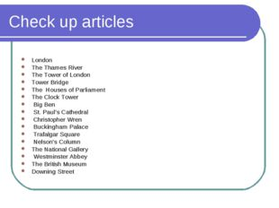 Check up articles London The Thames River The Tower of London Tower Bridge Th