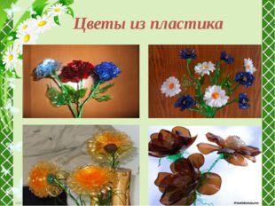 Цветы из пластика