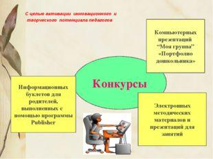С целью активации инновационного и творческого потенциала педагогов Конкурсы