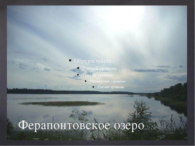 Ферапонтовское озеро