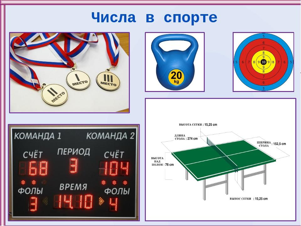 Числа в спорте