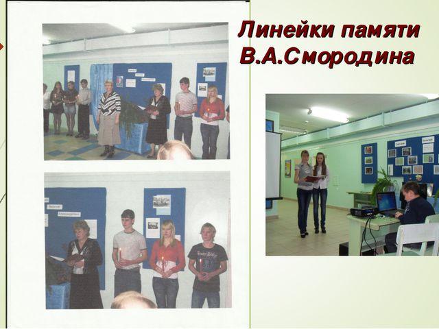 Линейки памяти В.А.Смородина