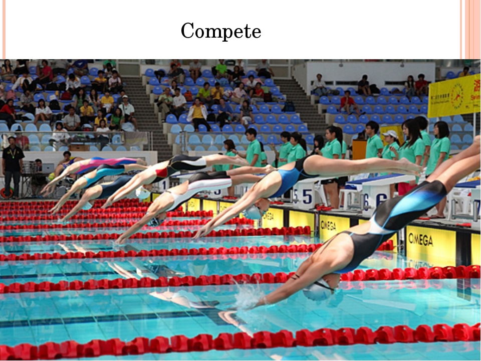 what makes competitive swimming one of the most challenging sports there is How swimming can help you trim fat and when you're training for a marathon or any other competition there is more breath control compared to running.