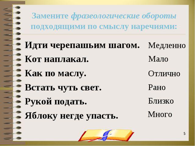 onachishich@mail.ru * * Замените фразеологические обороты подходящими по смыс...