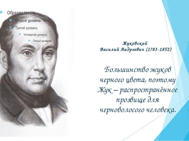 Жуковский Василий Андреевич (1783-1852) Большинство жуков черного цвета, поэт...