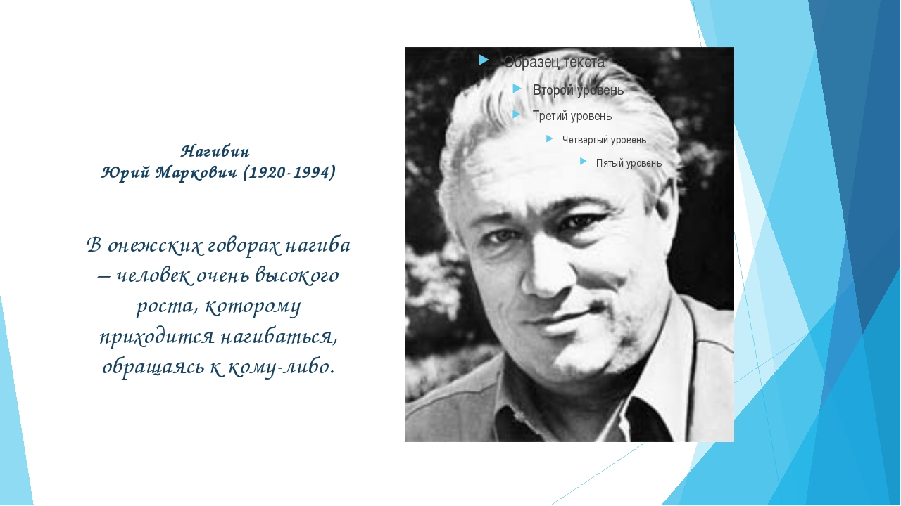 Нагибин Юрий Маркович (1920-1994) В онежских говорах нагиба – человек очень в...