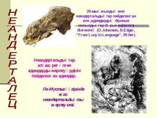 26-мыңжылдық ине: неандертальдықтар пайдаланған ине ,адамдардың бірнеше онжыл