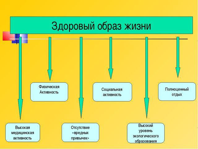Здоровый образ жизни Высокая медицинская активность Физическая Активность Отс...