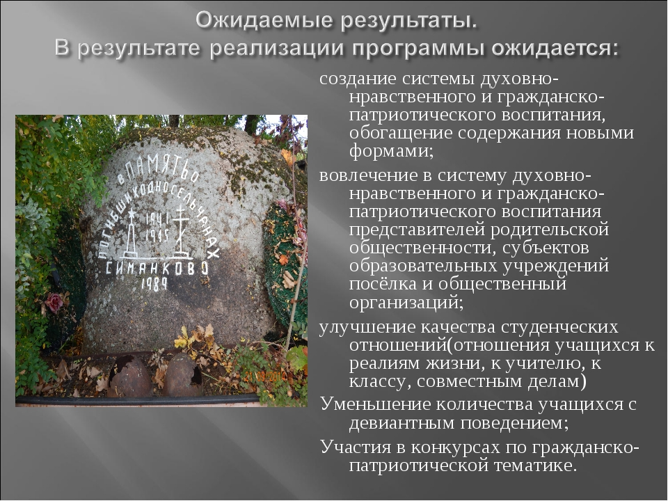 создание системы духовно-нравственного и гражданско-патриотического воспитани...