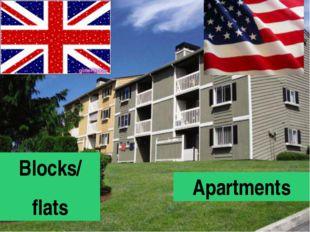 Blocks/ flats Apartments