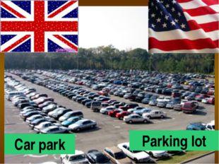 Car park Parking lot