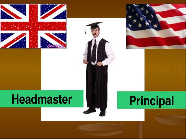 Headmaster Principal
