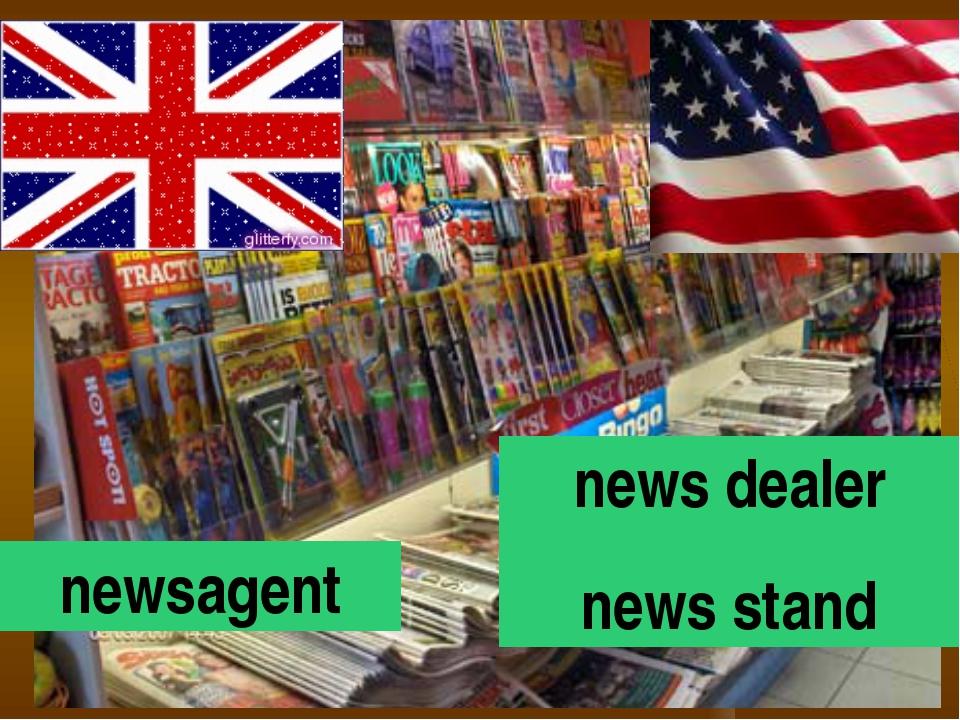 newsagent news dealer news stand