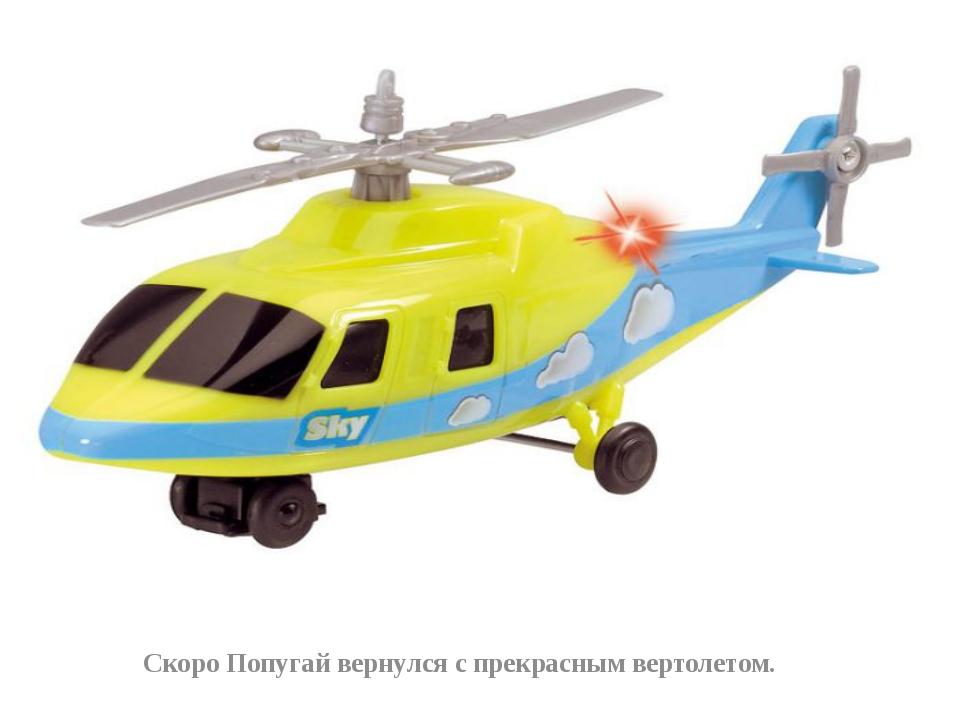Скоро Попугай вернулся с прекрасным вертолетом.