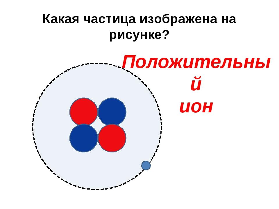 Какая частица изображена на рисунке? Положительный ион