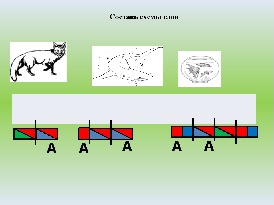 Составь схемы слов А А А А А