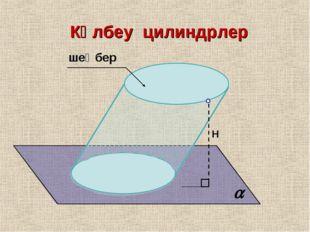 Көлбеу цилиндрлер Н шеңбер 