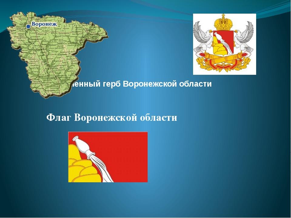 Современный герб Воронежской области Флаг Воронежской области