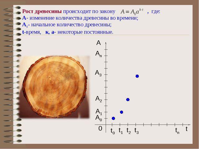 Рост древесины происходит по закону , где: A- изменение количества древесины...