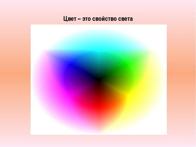 Цвет – это свойство света