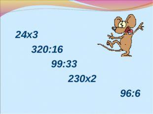 24х3 320:16 99:33 230х2 96:6