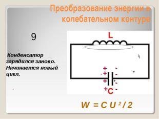 Преобразование энергии в колебательном контуре - Конденсатор зарядился заново