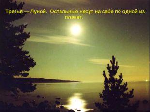 Третья — Луной. Остальные несут на себе по одной из планет.
