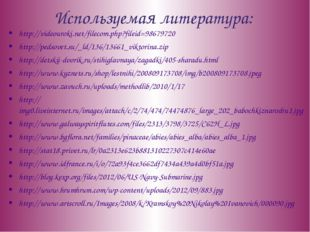 Используемая литература: http://videouroki.net/filecom.php?fileid=98679720 ht