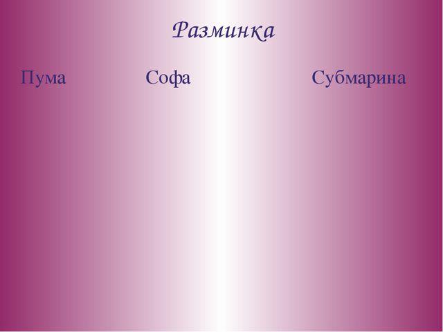 Разминка Пума Софа Субмарина