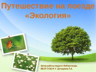 Путешествие на поезде «Экология» Автор работы:педагог-библиотекарь МБОУ СОШ