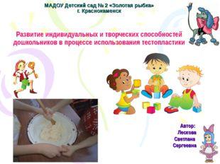 МАДОУ Детский сад № 2 «Золотая рыбка» г. Краснокаменск Развитие индивидуальны