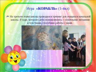 Игра «КОРАБЛЬ» (1-4кл) На третьем этаже школы проводился тренинг для учащихся