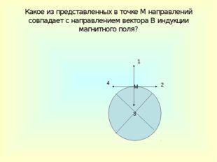 Какое из представленных в точке М направлений совпадает с направлением вектор