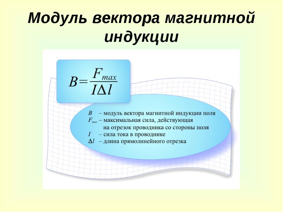 Модуль вектора магнитной индукции