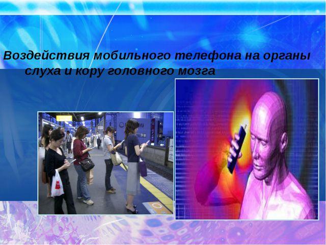 Воздействия мобильного телефона на органы слуха и кору головного мозга