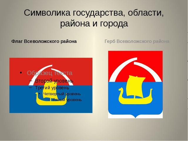 Символика государства, области, района и города Флаг Всеволожского района Гер...